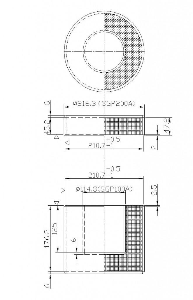 遮蔽容器製作図